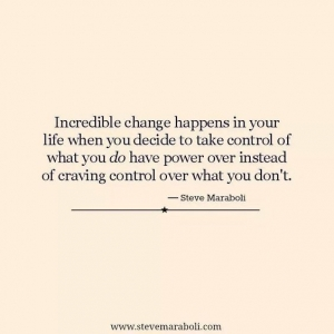 Incredible change happens